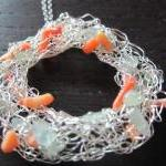 Flotsam Necklace: aquamarines and c..